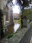 The Vestey Ring in a wet St Mary-le-Tower churchyard for the open day.