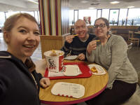 Laura, myself & Ruthie at Corley services. (Laura Davies)
