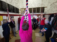 Ringing at Great Barton for the NW District Practice. (taken by Neal Dodge)