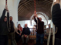 Ringing at Monewden during the South-East District Practice.