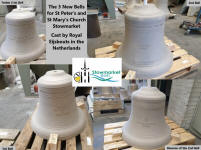 The new bells of Stowmarket. (by kind permission of Stowmarket Bells Facebook page)