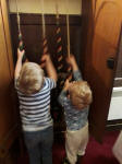 Alfie and Joshua chiming the bells at Great Bealings.