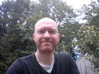 Me in the garden on the St Mary-le-Tower video chat this morning.