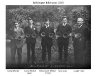 Bildeston handbell ringers in 1920 (by kind permission of Katharine Salter).