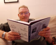 John Loveless with a copy of GWP's biography, image by kind permission of Linda Garton.