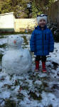Alfie with his snowman!