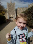 Alfie at Framlingham Castle.