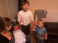 The brothers all together for the first time - Joshua, Mason & Alfie.