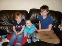 Tenor ringers of the future? Alfie, Joshua and Mason.