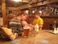 Ruthie, Alfie & Mason in The Cherrytree.