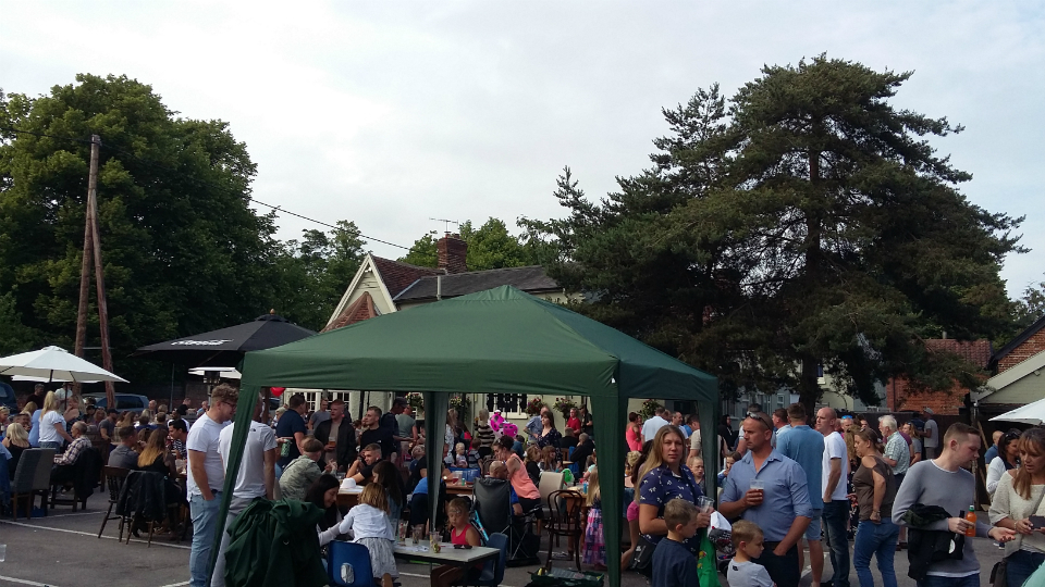 Beer festival at the Coach & Horses.