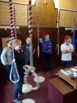 The Ipswich band waiting in the ringing chamber to ring.