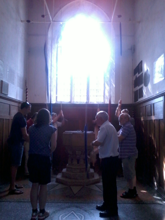 Rambling Ringers Ringing at Great Shelford.
