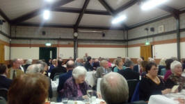 Chairman Alan Stanley addresses the 95th Anniversary Suffolk Guild Dinner at The Blackbourne Community Centre in Elmswell.