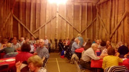 Some of those present at the Guild Social Barn Dance at Sproughton Tithe Barn.