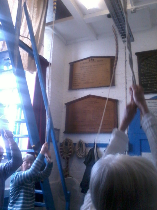 Ringing at Harwich on the Woodbridge Outing.