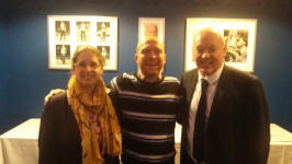Ruthie, myself and John Wark in the Sir Bobby Robson Suite after the match.