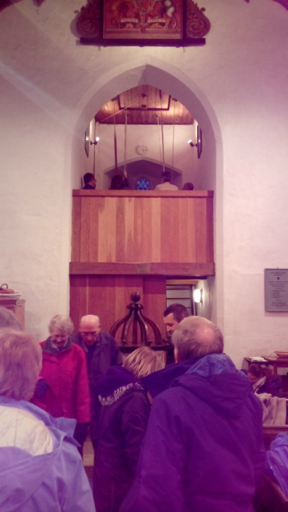 Ringing at Kettleburgh for the South-East District ADM.