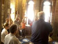 Sunday morning service ringing at Lincoln Cathedral.