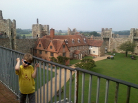 Mason at Framlingham Castle.