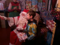 Mason meets Father Christmas at Nene Valley Railway.