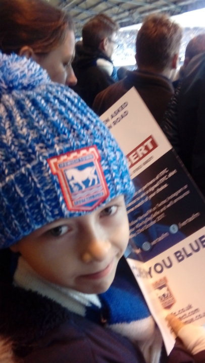 Mason at the Ipswich-Norwich match.