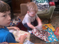 More present opening for Mason and Alfie!