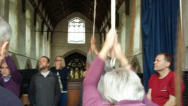 Ringing at North Elmham on the SE District Outing.