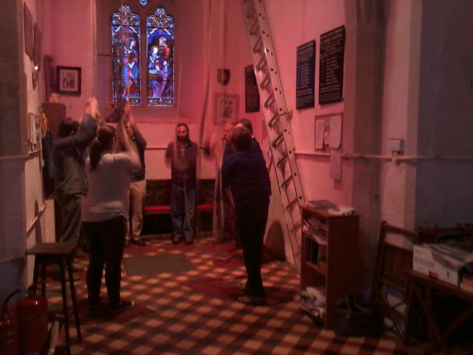 Ringing at Offton on their practice night.