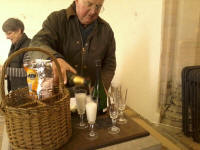 The champagne and nibbles that greeted us after this morning's peal at Pettistree!