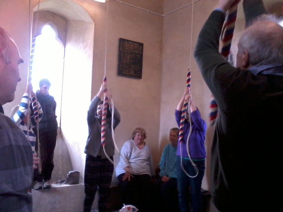 Ringing at Great Finborough on the Pettistree outing.