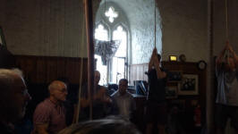 Ringing at Cullompton on Rambling Ringers Tour.