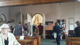 Ringing at Ide on Rambling Ringers Tour.