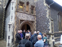 Rambling Ringers outside St George's Colegate in Norwich.