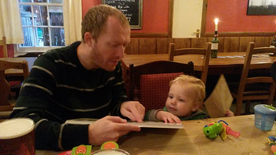 Alfie and me in The Cherrytree celebrating my birthday.
