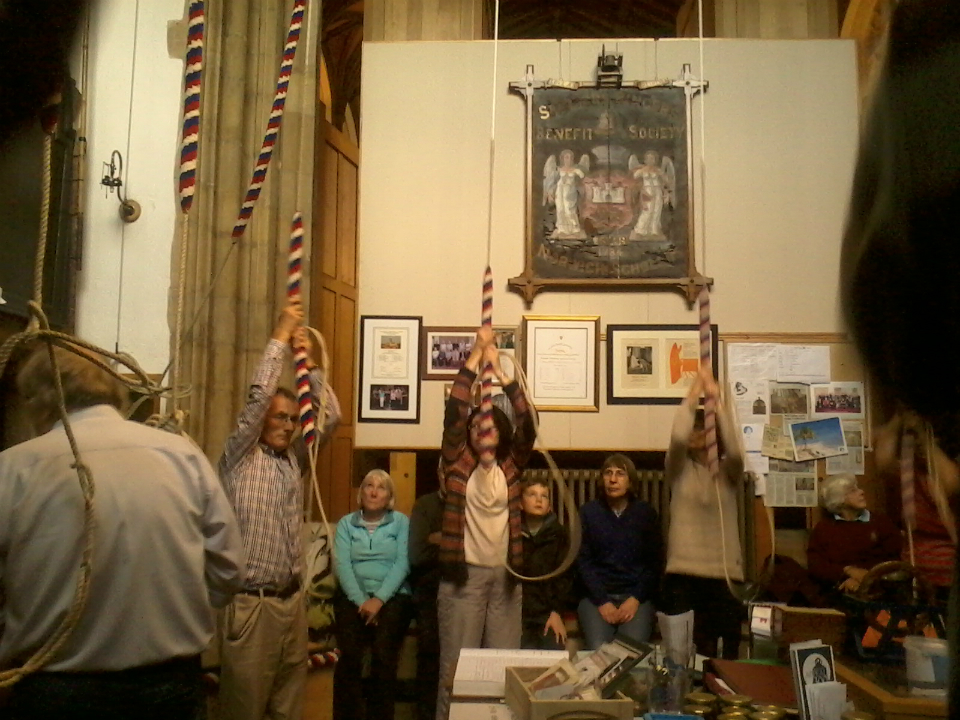 Ringing at St Peter Mancroft in Norwich on the South-East District Outing.