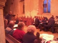Ralph addresses the South-East District Quarterly Meeting at Hollesley.