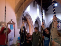 Ringing at Sproughton for the South-East District Practice.