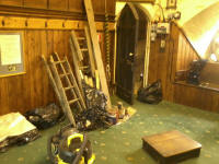 The ringing chamber at St Mary-le-Tower looking a little untidier than usual