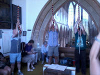 Rambling Ringers ringing at St Mary's, Ely.