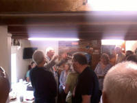 Mike Whitaker leads the singing at his party!