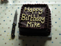 Mike's cake.