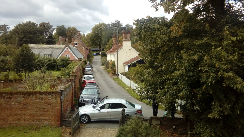 Following on from yesterday's view from Grundisburgh ringing chamber, here's the view from Ufford's.