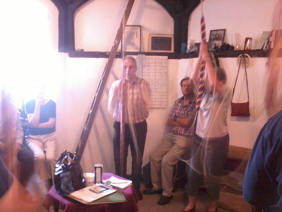 Ringing at Wickham Market for the South-East Practice.