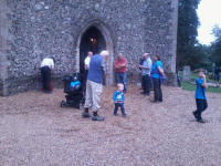 Ringing at Wickham Skeith on the Guild Social.