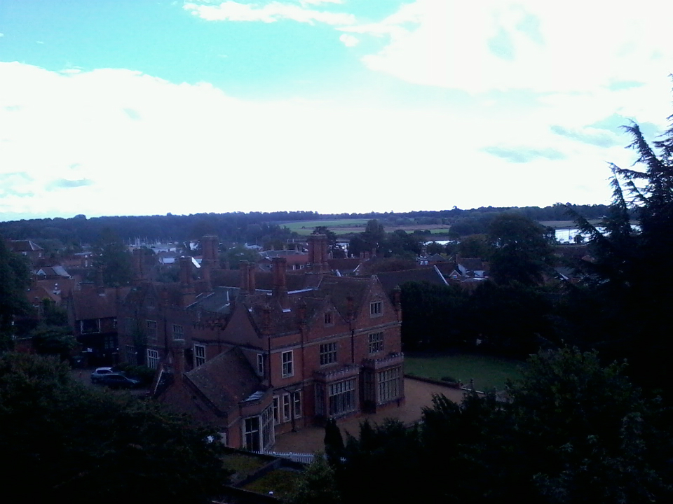 View from tower at Woodbridge.