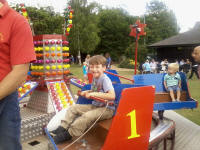 Mason on a ride at Woodbridge Regatta.