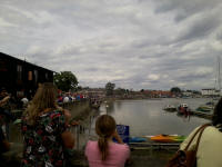 The crowds at Woodbridge Regatta.