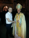 George Reynolds meeting the Archbishop of Canterbury.