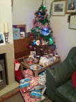 Our Christmas Tree after Santa had been!